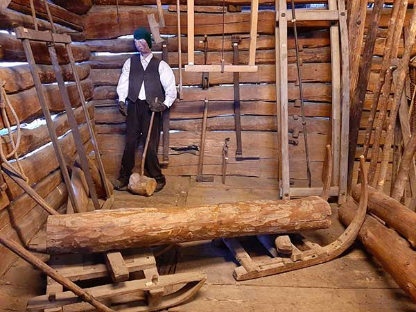 slitta legno