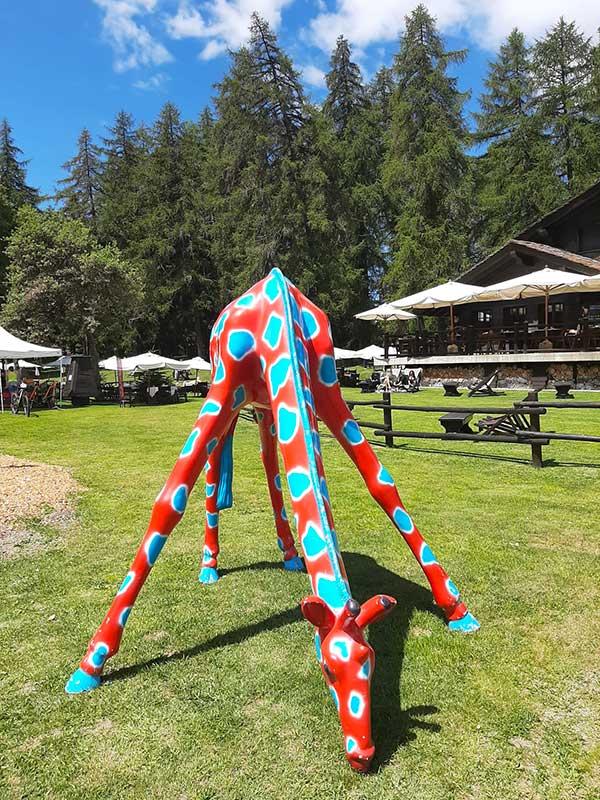 giraffa scivolo