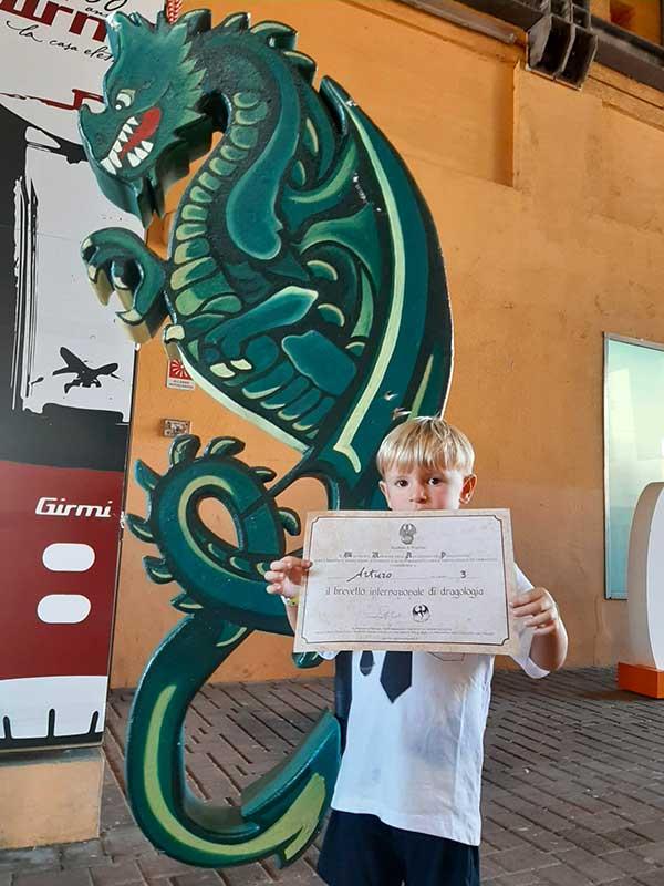 bambino ocn diploma di dragologia