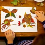 bambino lavoretto autunno