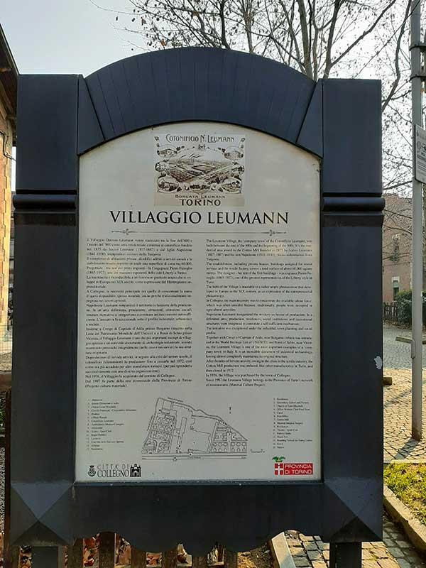 ingresso Villaggio Leumann