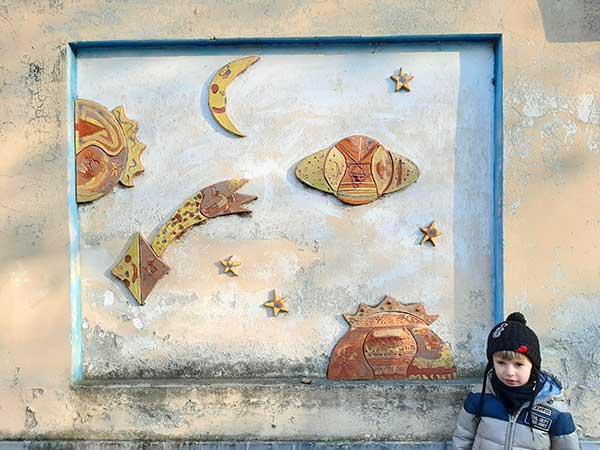 bambino a Torino Villaggio Leumann