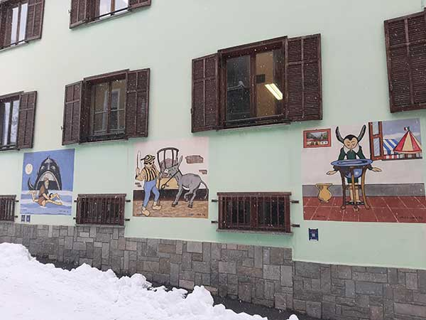 vernate murales pinocchio neve